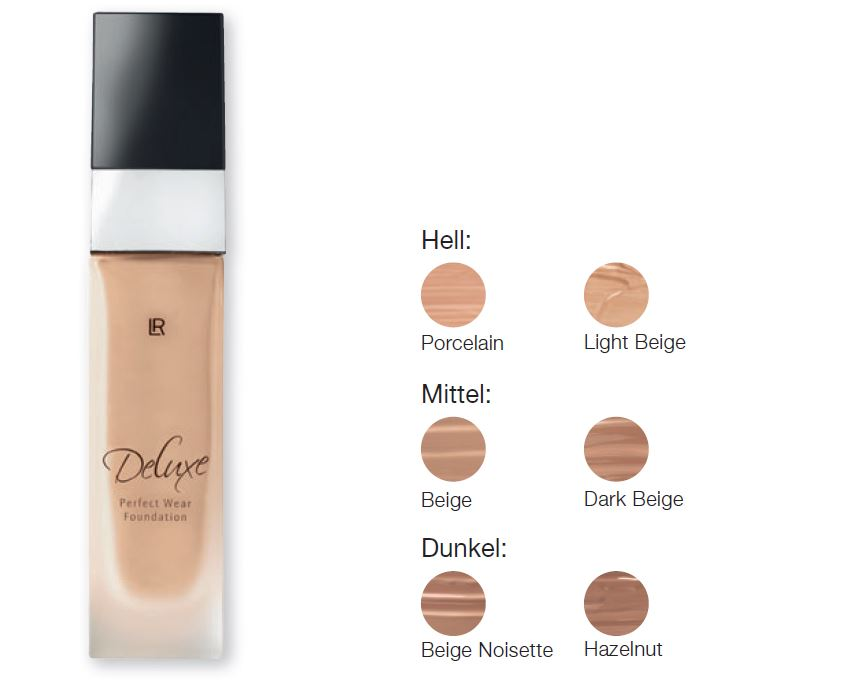 lr deluxe fondoten perfect wear foundation