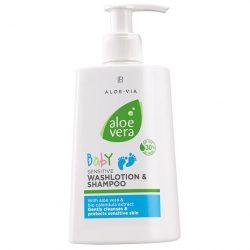 LR Aloe Vera Baby Hassas Yıkama Losyonu ve Şampuanı 200ml