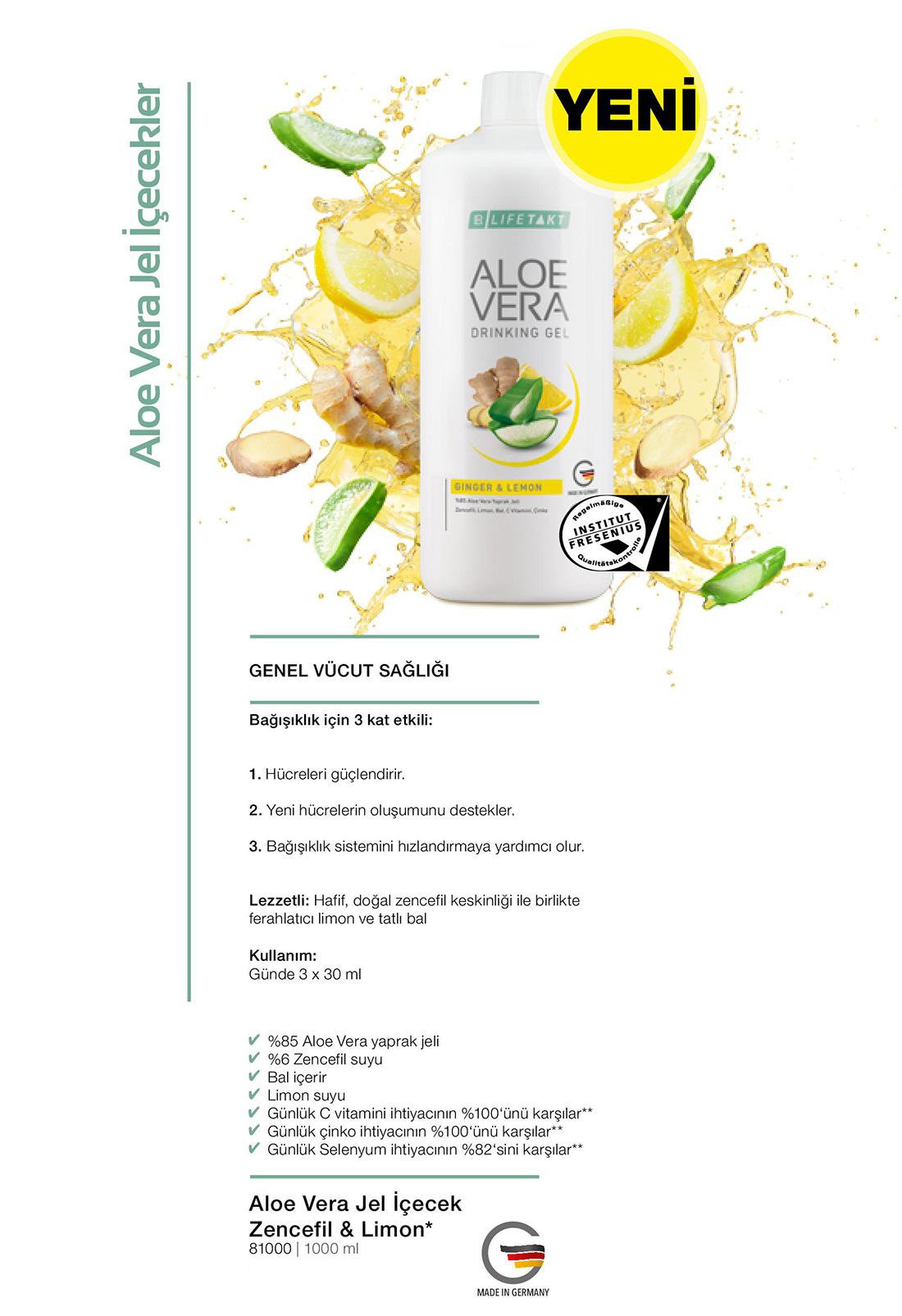 LR Aloe Vera Jel Icecek Zencefil Limon katalog