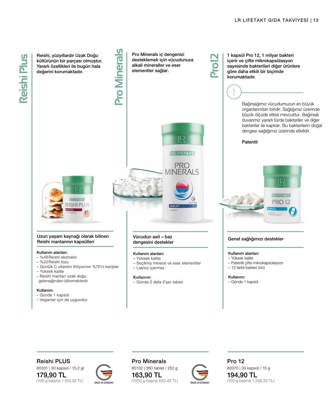 LR Pro 12 - Probiyotik Kapsüller katalog