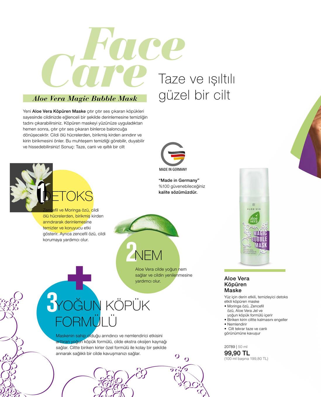 LR Aloe Vera Köpüren Maske katalog