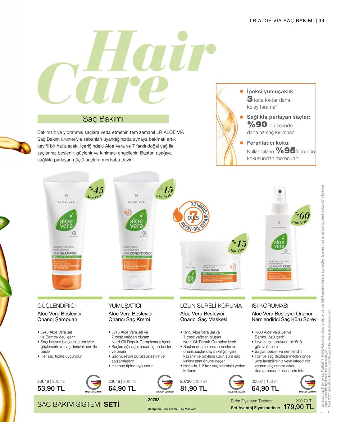 LR Aloe Vera Besleyici Onarıcı Saç Maskesi katalog