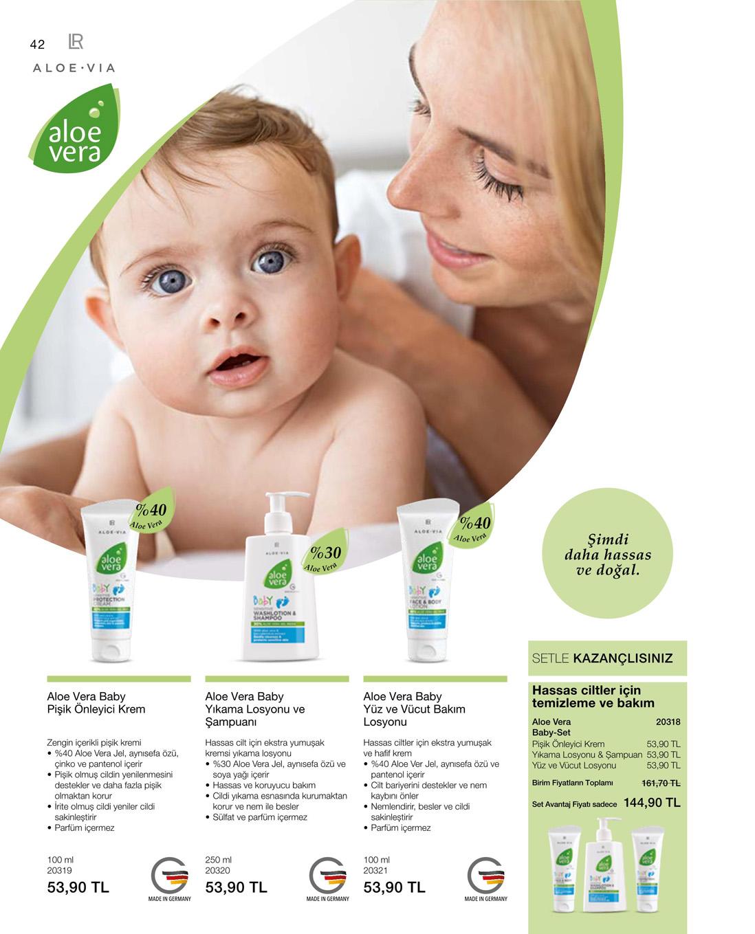 LR Aloe Vera Baby Hassas Pişik Önleyici Krem katalog