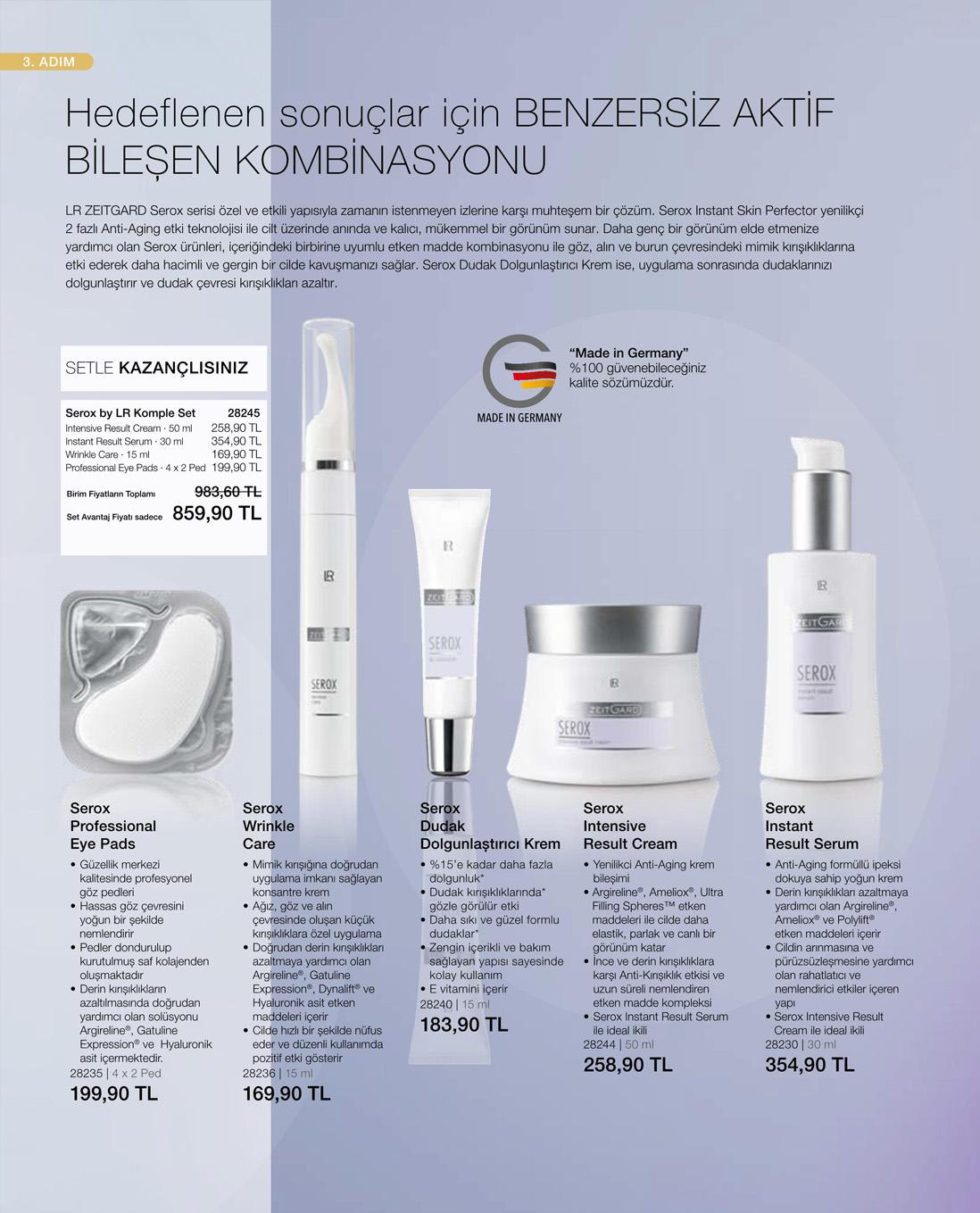 LR Serox Wrinkle Care Göz Kremi  katalog