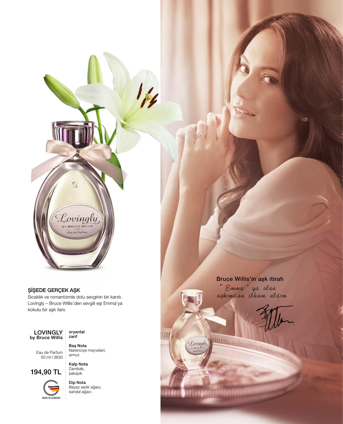 LR Lovingly by Bruce Willis EdP katalog