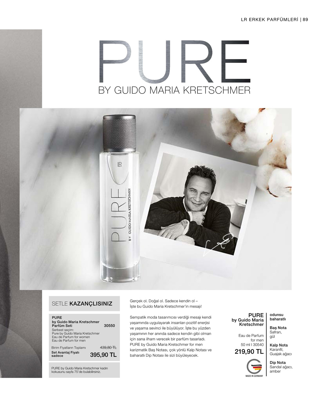 LR PURE by Guido Maria Kretschmer for men EdP  katalog