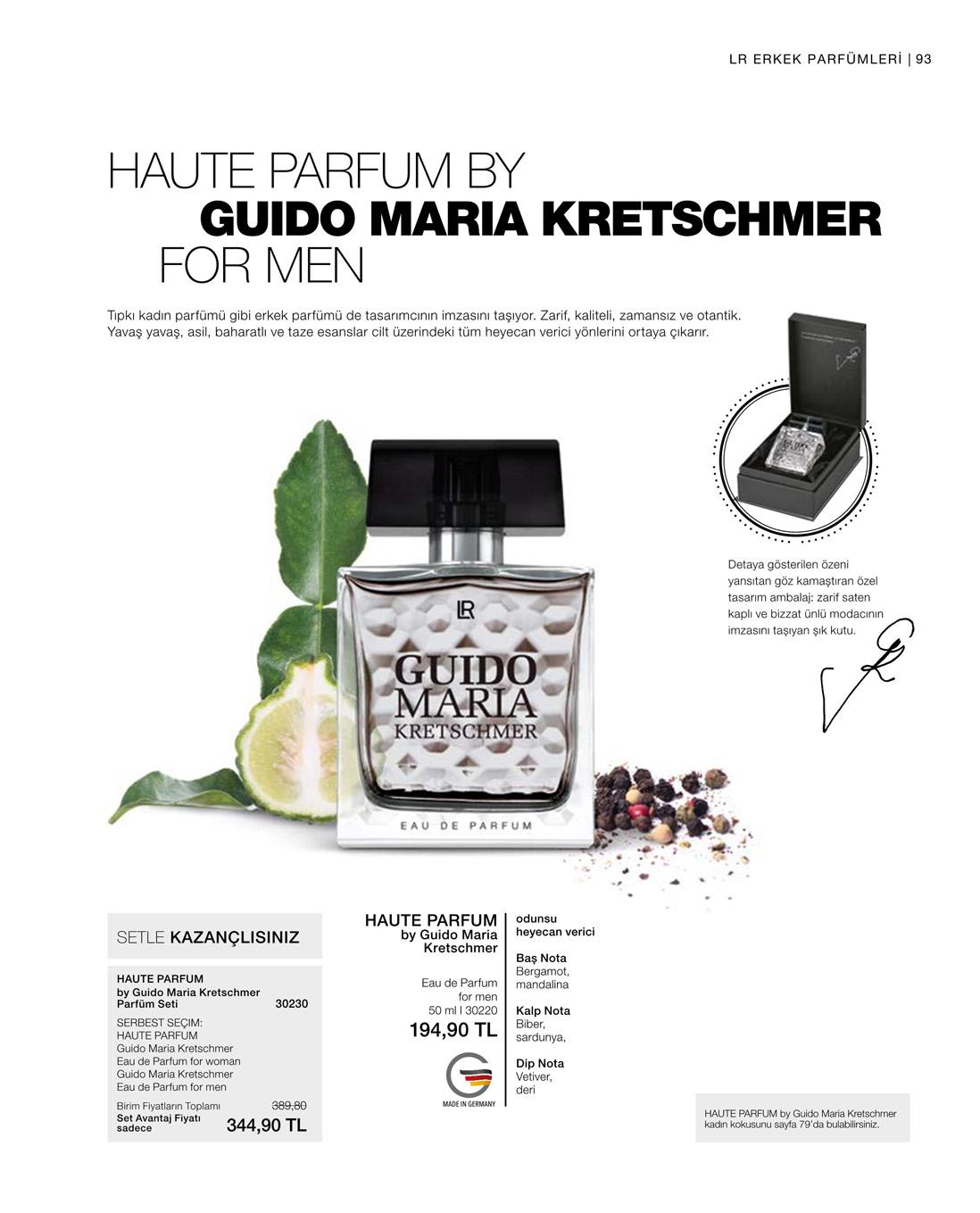 LR Guido Maria Kretschmer EdP for Men katalog